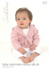 Sublime 6019 Sublime Baby Cashmere Merino Silk DK Little Pixie Coat (leaflet)