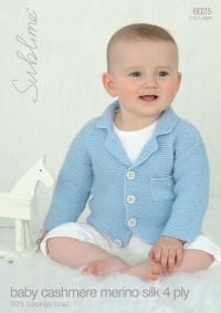 Sublime 6025 Sublime Baby Cashmere Merino Silk 4 Ply 50's Lounge Coat (leaflet)