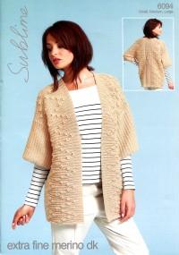 Sublime 6094 Sublime Extra Fine Merino DK Kimono Jacket (downloadable PDF)