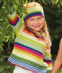 Schachenmayr - Childs Sweater and Hat with Stripes in Catania (downloadable PDF)
