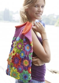 Schachenmayr - Colorful Flower Bag in Catania (downloadable PDF)