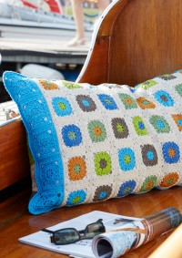 Schachenmayr - Colorful Granny Pillow in Catania (downloadable PDF)