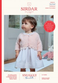 Sirdar 5257 Girls V-Neck Cardigan and Dolls Cardigan in Snuggly Bouclette (downloadable PDF)