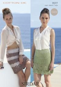 Sirdar 7077 Sirdar Cotton DK Crochet Skirt (downloadable PDF)