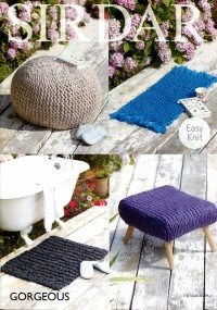 Sirdar 7965 Foot Stool Covers and Rugs in Gorgeous (downloadable PDF)