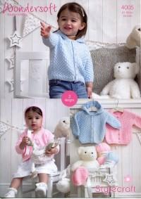Stylecraft 4005 Baby DK (leaflet) Jackets and Bonnet