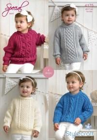 Stylecraft 4175 Aran (downloadable PDF) Sweaters