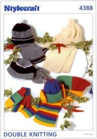 Stylecraft 4388 DK (leaflet) Child Gloves and Accessories