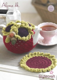 Stylecraft 9099 Alpaca DK (downloadable PDF) Tea Cosy & Tea Pot Mat