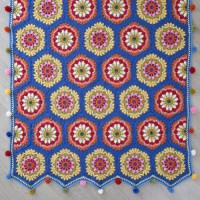 Stylecraft - Blue House Blanket by Jane Crowfoot in Life DK (leaflet)
