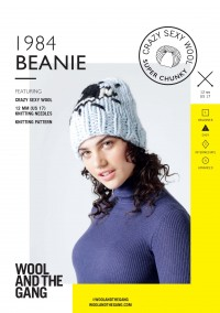 Wool and the Gang 1984 Beanie in Crazy Sexy Wool (booklet)