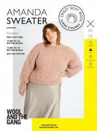 Wool and the Gang Amanda Sweater in Crazy Sexy Wool (booklet)
