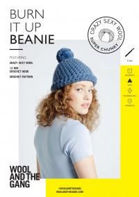 Wool and the Gang Burn It Up Beanie in Crazy Sexy Wool (booklet)