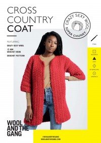 Wool and the Gang Cross Country Coat in Crazy Sexy Wool (booklet)