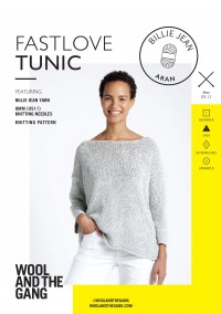 Wool and the Gang Fast Love Tunic in Billie Jean (booklet)