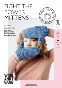 Wool and the Gang Fight The Power Mittens in Crazy Sexy Wool (booklet)