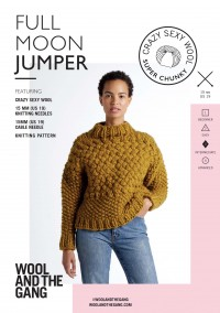 Wool and the Gang Full Moon Jumper in Crazy Sexy Wool (booklet)
