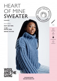 Wool and the Gang Heart of Mine Sweater in Crazy Sexy Wool (booklet)
