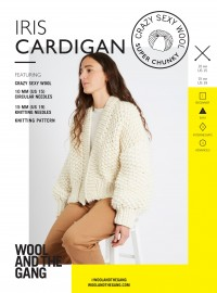 Wool and the Gang Iris Cardigan in Crazy Sexy Wool (booklet)