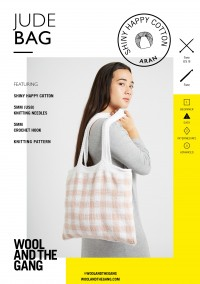 Wool and the Gang Jude Tote in Shiny Happy Cotton (booklet)