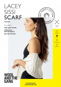 Wool and the Gang Lacey Sissi Scarf in Shiny Happy Cotton (booklet)