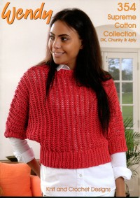 Wendy 354 Cotton Collection DK, 4 Ply, Chunky. Knit & Crochet (book)