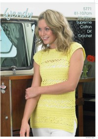 Wendy 5771  Crochet Top in Supreme Luxury DK (leaflet)