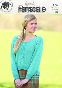 Wendy 5783 Scoopback Sweater with Sleeveless Option in Ramsdale DK (leaflet)