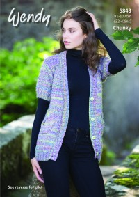 Wendy 5843 Short Sleeved Jacket and Gilet in Festival Chunky (leaflet)