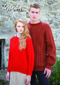 Wendy 5866 Family Sweaters in Aran With Wool (downloadable PDF)