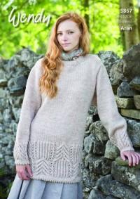 Wendy 5867 Tunic & Sweater in Aran With Wool (downloadable PDF)