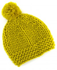World of Wool - Pom Pom Beanie Hat in Chubbs Merino (downloadable PDF)