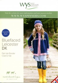 West Yorkshire Spinners Blue Faced Leicester DK - Fair Isle Border Coat & Hat (leaflet)