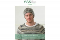 West Yorkshire Spinners - Mens Beanie Hat in Blue Faced Leicester DK (downloadable PDF)