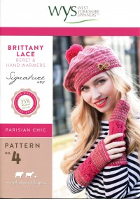 West Yorkshire Spinners - Brittany Lace Beret and Handwarmers in Signature 4 Ply (leaflet)