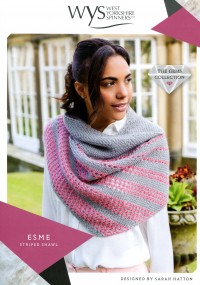 West Yorkshire Spinners Wensleydale Gems - Esme Striped Shawl (leaflet)