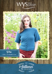 West Yorkshire Spinners Blue Faced Leicester Aran - Fern Cable and Bobble Top (leaflet)