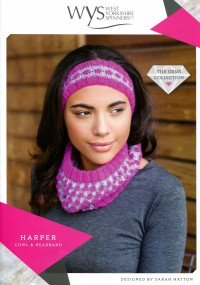 West Yorkshire Spinners Wensleydale Gems - Harper Cowl and Headband (leaflet)