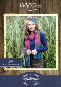 West Yorkshire Spinners Blue Faced Leicester DK - Iris Scarf and Headband (leaflet)
