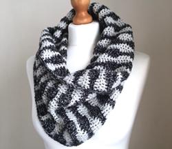 Soundwaves Cowl (crochet pattern) made with Scheepjes Velvet and Scheepjes Colour Crafter