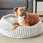 Free Pattern! Crocheted Pet Bed in Bernat Softee Chunky