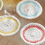 Free Pattern! Crocheted Coasters in Lily Sugar 'n Cream