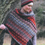 Knitted scarf in Rico Creative Melange Chunky