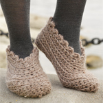 Crocheted Slippers in DROPS Andes