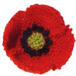 Knitted Poppy in Lion Brand Kitchen Cotton