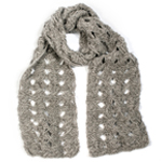 Free Pattern! Knitted Lace Stitch Scarf in Toft DK yarn
