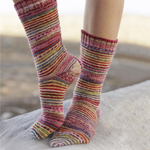 Free Pattern! Knitted Socks in Garter Stitch by DROPS