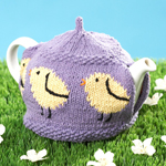 Free Pattern! Little Chicks Knitted Tea Cosy in Lily Sugar 'n Cream cotton