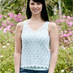 Free Pattern! 'Flower Bud' Sleeveless Top in Cascade Ultra Pima
