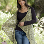 Free Pattern! 'Rose Trellis' Shawl Vest knitted in Cascade Ultra Pima